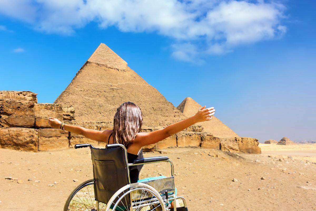 Wheelchair Accessible Tour, Giza Pyramids, Cairo, Egypt