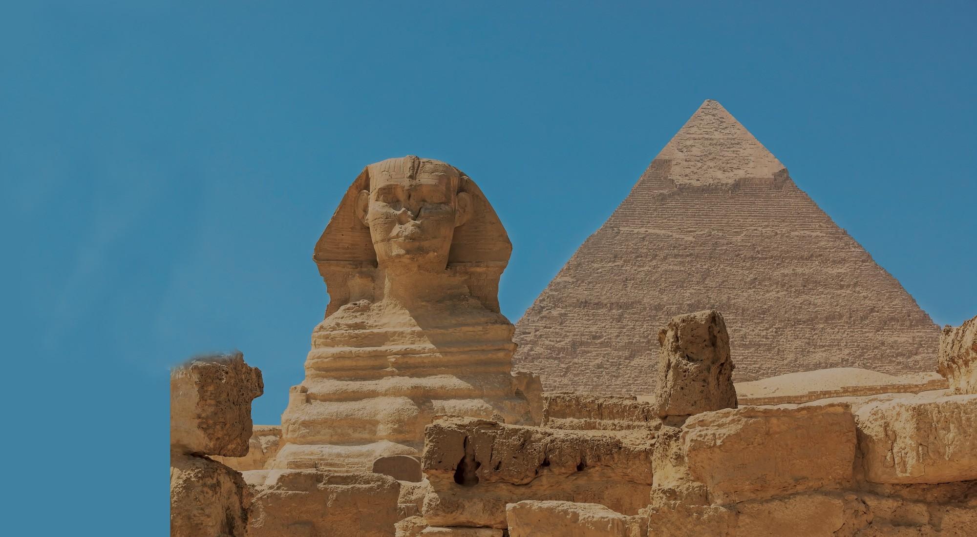 Giza Pyramids, Sphinx and Cairo Nile from Alexandria Port