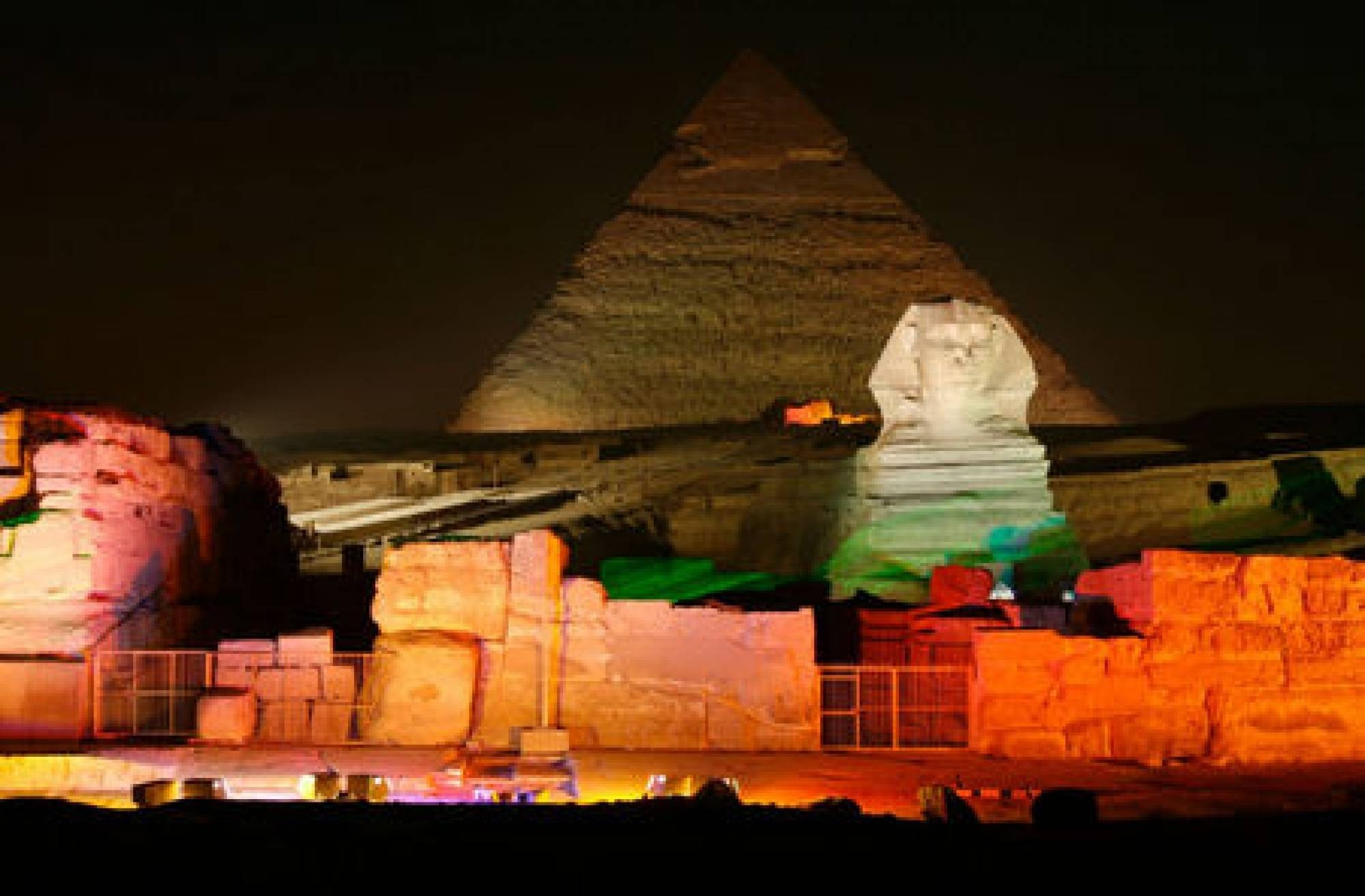 Sound And Light Show At The Giza Pyramids