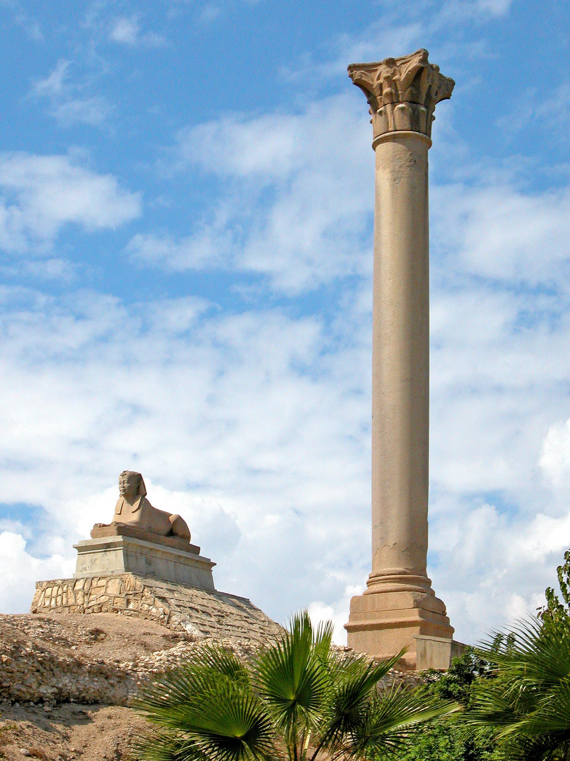 pompey Pillar,  Cairo and Alexandria Tour from Taba