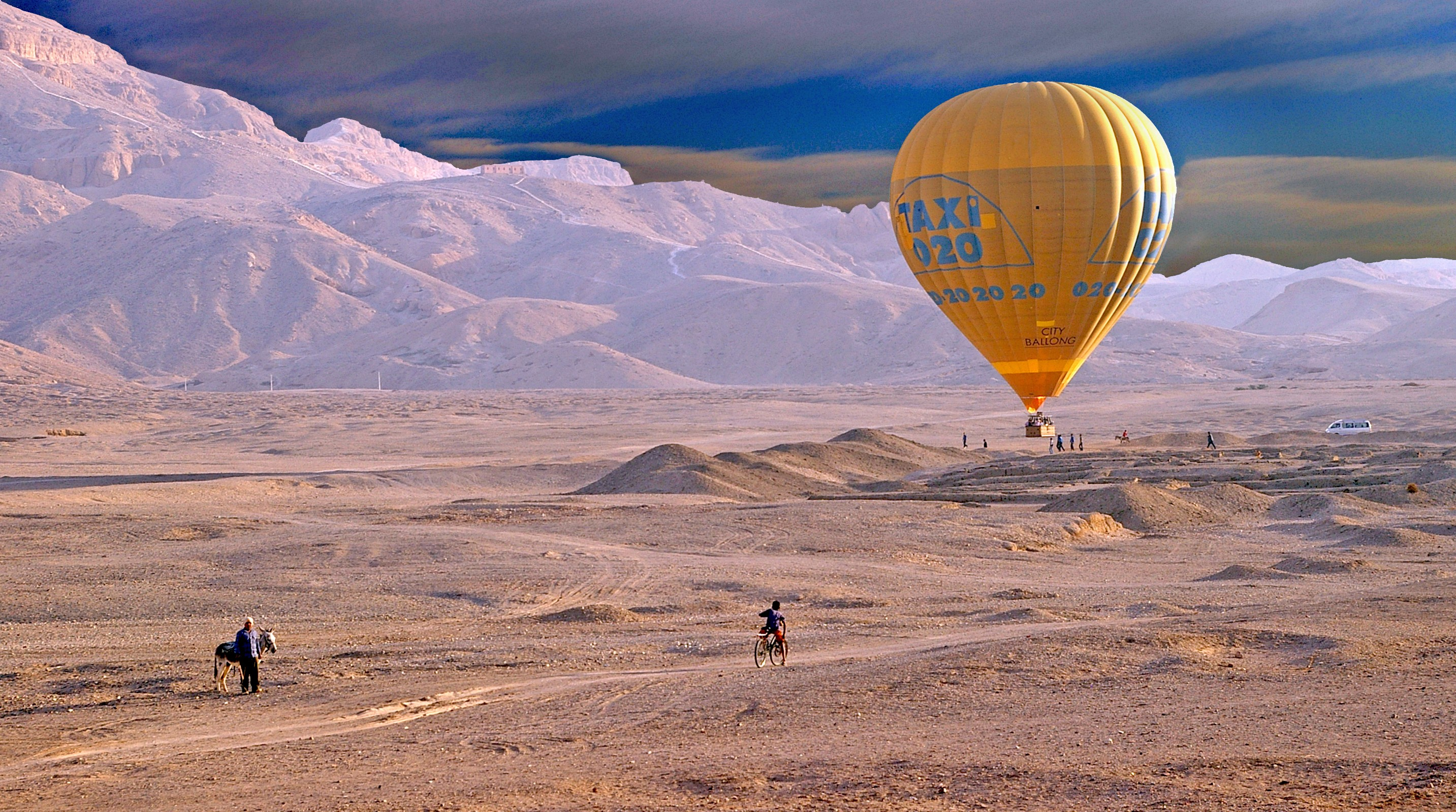 Hot Air Balloon Flight Over Luxor West Bank and Nile River excursion