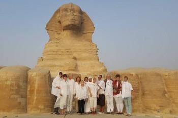 Giza Pyramids during sunset