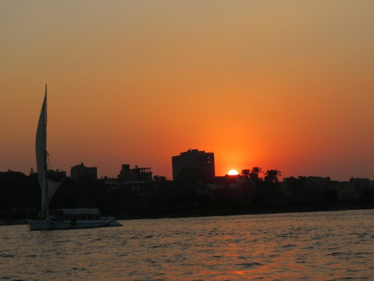 Cairo sunset over the Nile